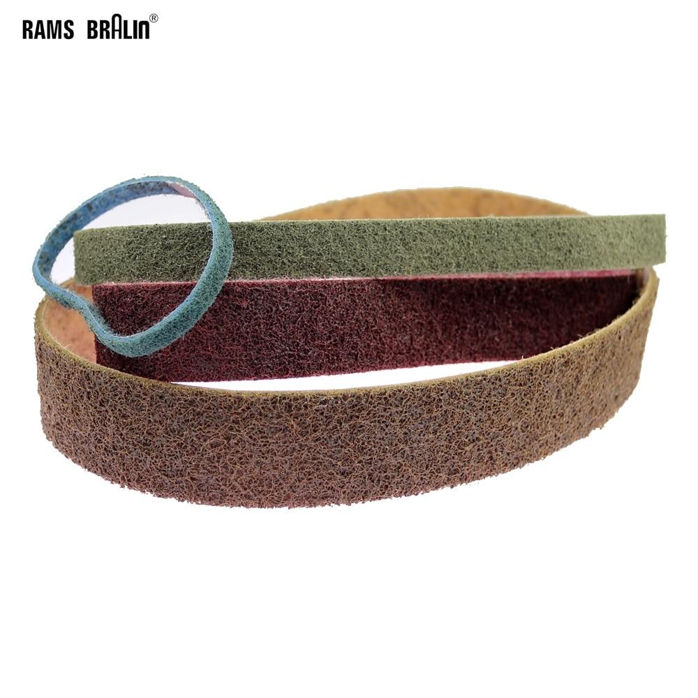 1 Piece Non-woven Abrasive Sanding Belt Very Coarse To Fine Nylon Polishing Belt