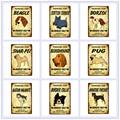 Parkplatz für Pet Hund Vintage Plaque Beagle Metall Zinn Zeichen Pub Bar Cafe Home Decor Borzoi Shar-Pei Brittany wand Kunst Poster N357