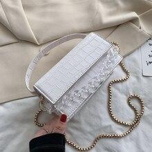 Crocodile patent Crossbody Bags For Women 2020 Small Handbag Bag PU Leather Hand Bag Ladies Designer Evening Bags with handle elegant women s clutch bag with patent leather and crocodile print design