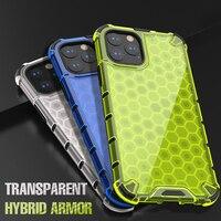 Custodia per armatura antiurto per iPhone 13 11 12 Pro Max 11Pro Airbag a nido d'ape Cover posteriore rigida per iPhone XR XS Max 7 8 Plus SE 2020