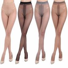 Nowe wysokie elastyczne, czarne pończochy damskie rajstopy Sexy chude nogi rajstopy zapobiegają haczykowi jedwabny Collant Medias Girl majtki