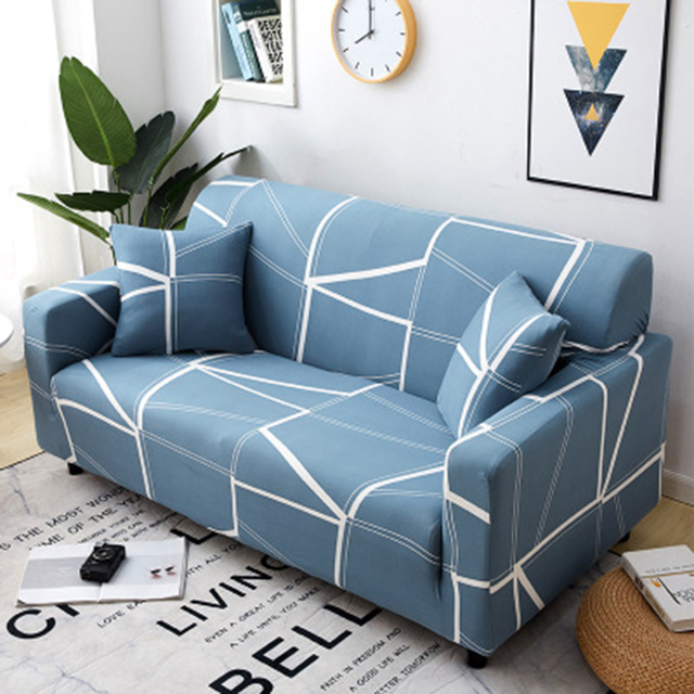 Stretch Sofa Cover Slipcover Furniture Protector Couch Soft with Elastic Bottom Anti Slip Foam Kids, Spandex Jacquard Fabric