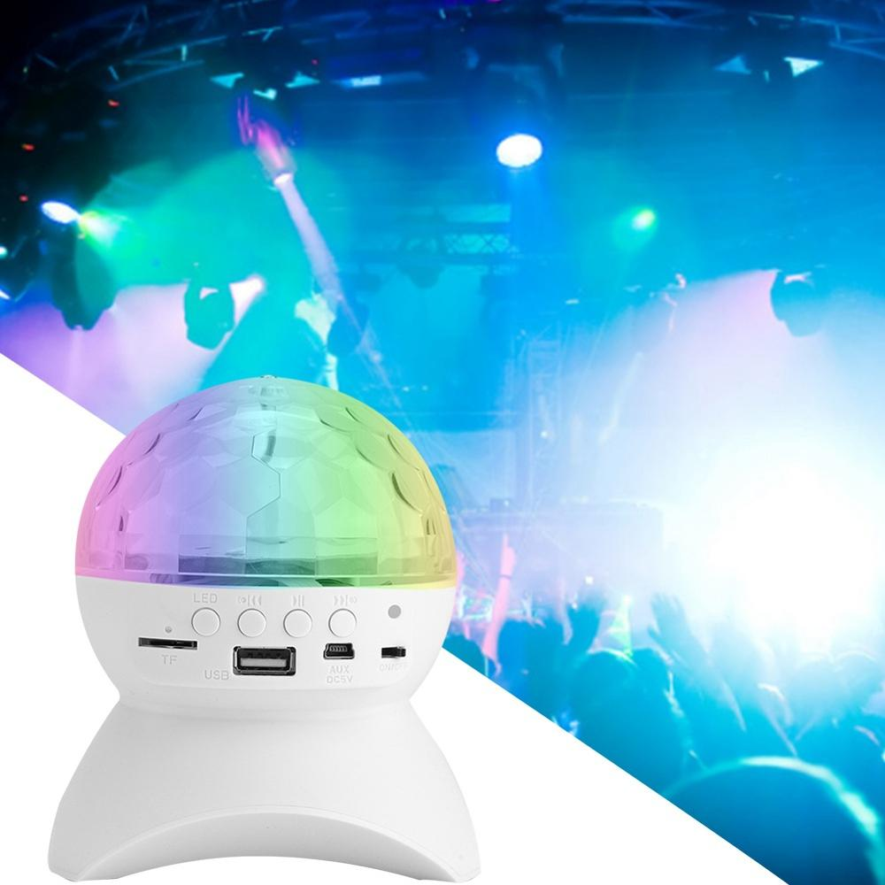 Disco Ball Lights Bluetooth Music Speaker LED Party Lights USB RGB DJ Sound Activated Rotating Lights Wireless Phone Connection