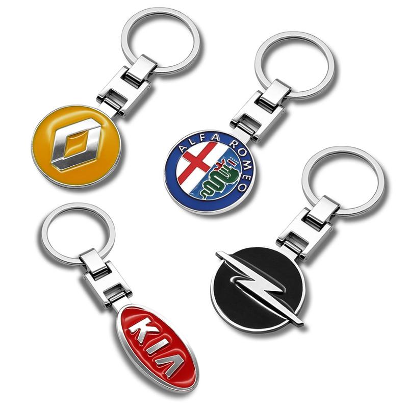 3D металлический сплав автомобильный стиль модный брелок для ключей для BMW Audi Kia Mazda Jeep Mitsubishi hyundai Suzuki аксессуары