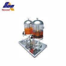 Высокое качество два цилиндра питьевой сока диспенсер сок льда охлаждающая машина