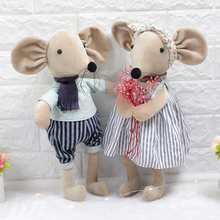 candice guo! cute plush toy lovely cartoon couple lover mouse handsome dress rat soft stuffed doll girl birthday Christmas gift