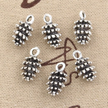 20pcs Charms pinecone pineal fruit 15x8mm Antique Silver Bronze Pendants DIY Necklace Crafts Making Findings Tibetan Jewelry(China)