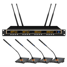 Orban professional UHF wireless microphone system four conference microphones for conference room microphone wireless high end uhf 8x50 channel goose neck desk wireless conference microphones system for meeting room