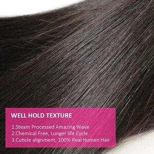 Image 4 - Cexxy 12A Nertsen Haar Onbewerkte Maagd Jong Meisje Human Weave Virgin Hair Straight Braziliaanse Haar Weefsel Bundels Natuurlijke Kleur