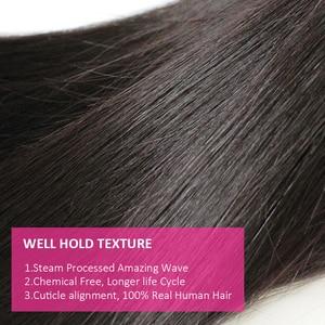 Image 4 - Cexxy 12Aミンクの毛未処理のバージン少女人間織りバージンヘアストレートブラジル髪織りバンドルナチュラルカラー