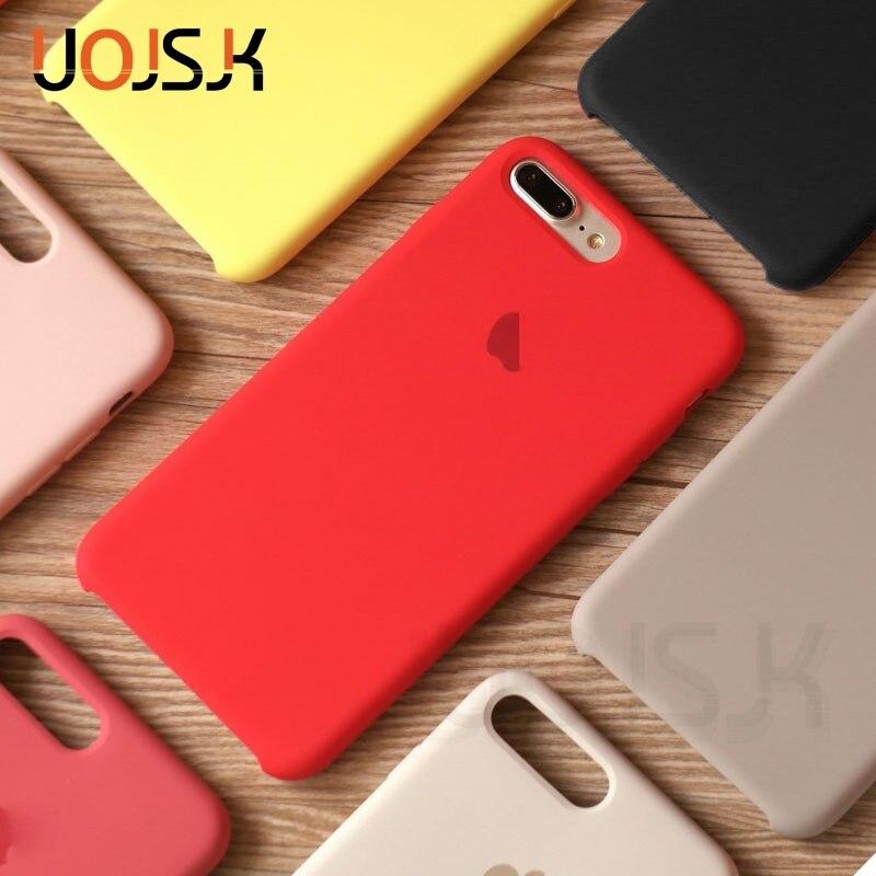 Custodia In Silicone originale Per il iphone XR X XS Max Caso Per il iphone di Apple 7 8 Più di 6 6S Custodie per il iphone Scatola di 11 Pro Max Della Copertura Ufficiale