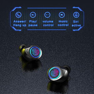 Image 5 - 2020 tw60 tw80 tws fone de ouvido sem fio bluetooth alta fidelidade estéreo volume controle toque display led mini fones para mulher menina