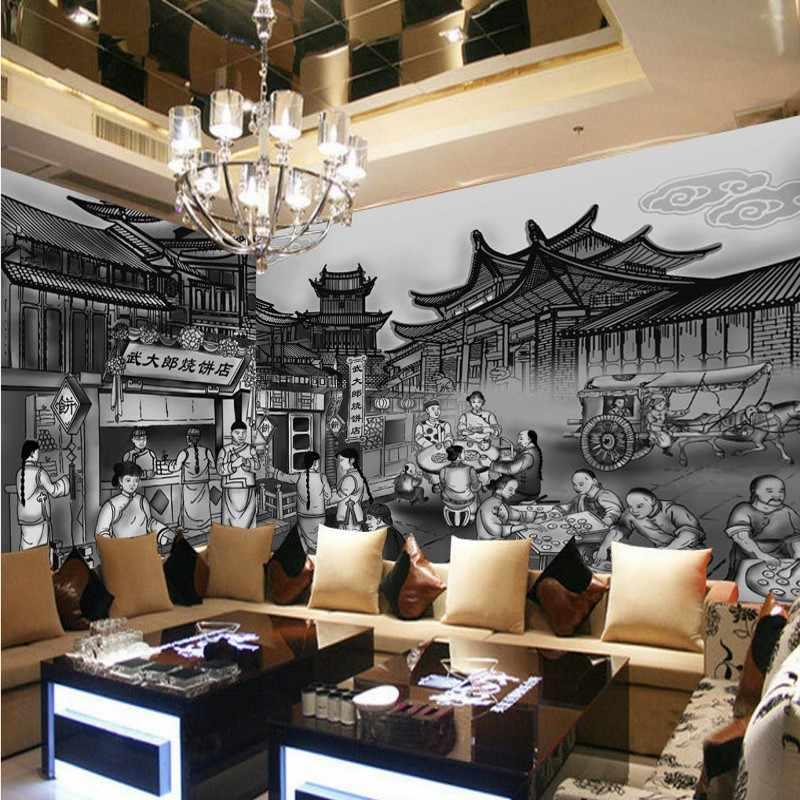Drop Verzending Foto Behang 3D Bakkerij Winkel Folk Decoratie Schilderij Achtergrond Muur Stereo Wallpaper Custom Woonkamer Muurschildering