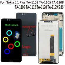 Shyueda 100% Orig New For Nokia 5.1 Plus X5 TA-1102 TA-1105 TA-1108 TA-1109 TA-1112 TA-1120 TA-1199 LCD Display Touch Screen ta sports