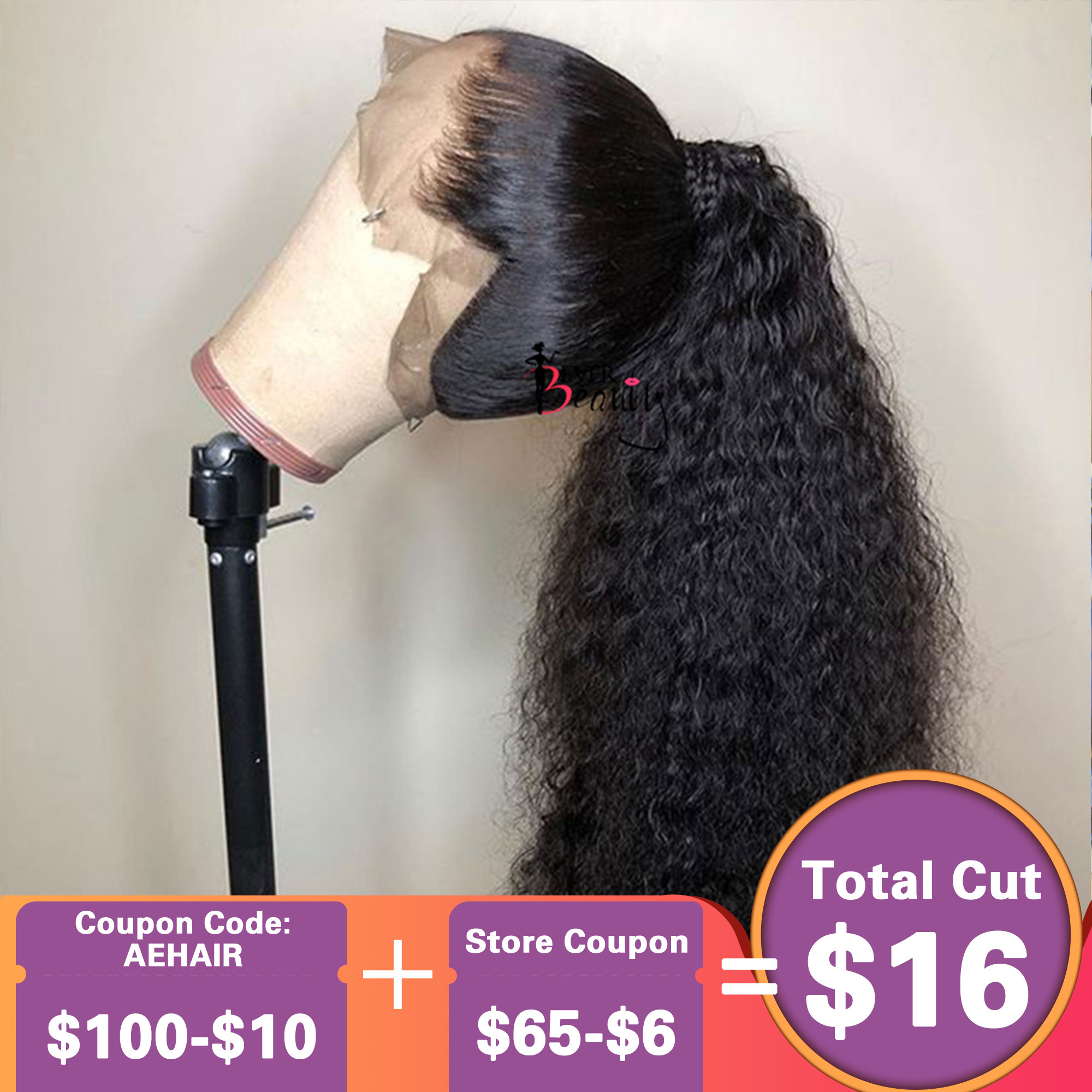 360 Lace Frontal Wig Pre Plucked Deep Wave Wig 13x6 Curly Bob Lace Front Human Hair Wigs 250 Density Fake Scalp Full Ever Beauty
