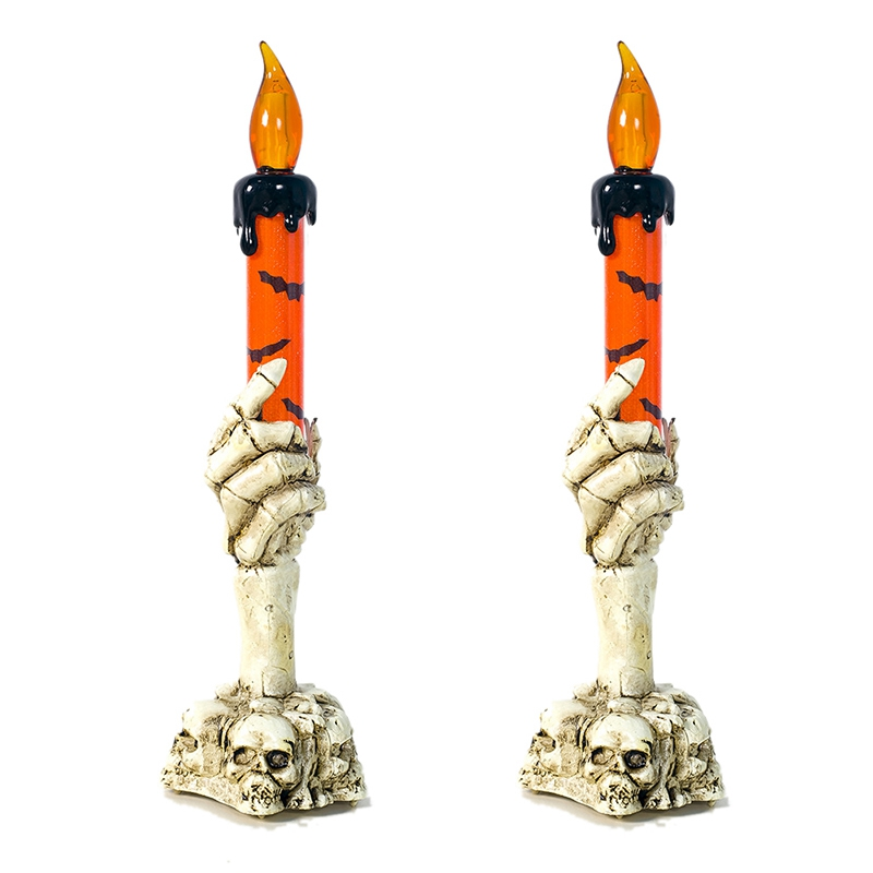 2Pcs Halloween Ghost Hand Night Light Of Ghost Festival Atmosphere Props Plastic Ghost Hand Light Neon Light LED Light Candle Li