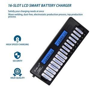 Image 3 - NC32 12/16 חריץ LCD תצוגה חכם סוללה מהיר מטען מרובה הגנה חכם KTV מיקרופון סוללה מטען אין סוללה