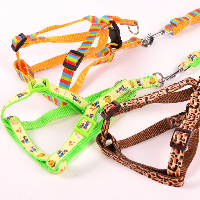 Pet Traction Rope Chest Small Puppy Dog Traction Belt Xiong Bei Tao Suspender Strap Dog Dog Rope Dog Traction Universal Axially