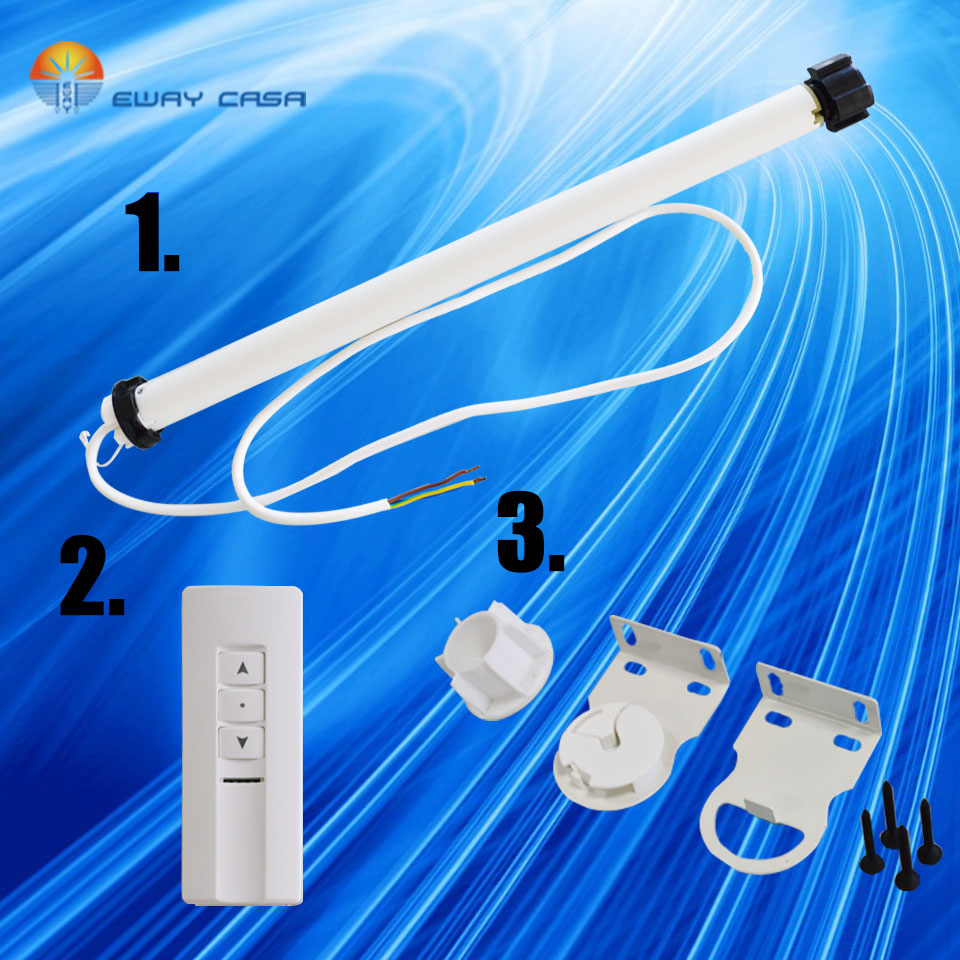 Tubular Motor For Motor Roller Blinds Electronic Limit Switch EWAY CASA AC220V Dia. 25mm SUPERQUIET 36 DB Smart Home TM_30_T