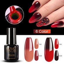 Mizhse 7 Ml Thermo Changing Gel Nail Thermische Kleurverandering Uv Gel Lak Manicure Lucky Nail Art Chameleon Nail Gel vernissen(China)