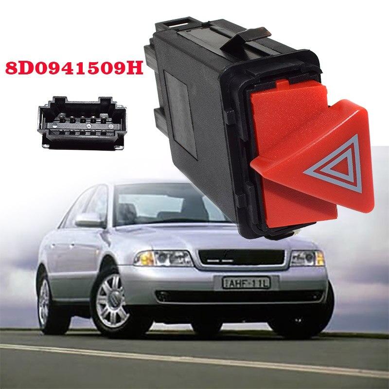 Auto Part Master Hazard Light Lamp Switch Dash Button For AUDI A3 A4 B5 A6 C6 Allroad OE: 8D0 941 509H 8D0 941 509 H
