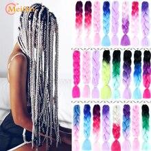 MEIFAN 24 Inch Crochet Hair Synthetic Hair African Afro Jumb