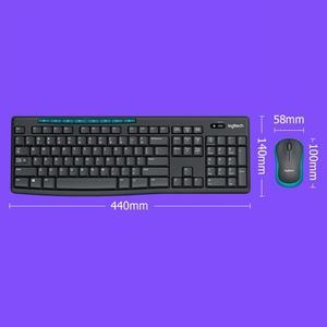Image 2 - Ogitech MK275 USB clavier sans fil 1000DPI clavier étanche avec fonction multimédia clé optique ergonomique PC souris Combos