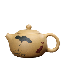 Zisha Segment błoto Xishi fioletowy gliniany czajniczek Yixing chiński Kongfu dzbanki na herbatę Handmade 200ml tanie tanio oneice CN (pochodzenie) 200 ml Fioletowy gliny yzteapot012