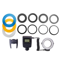 48 Macro LED Macro Ring Flash Light with 8 Adapter Ring for Nikon D5000 for Canon 650D 600D 550D