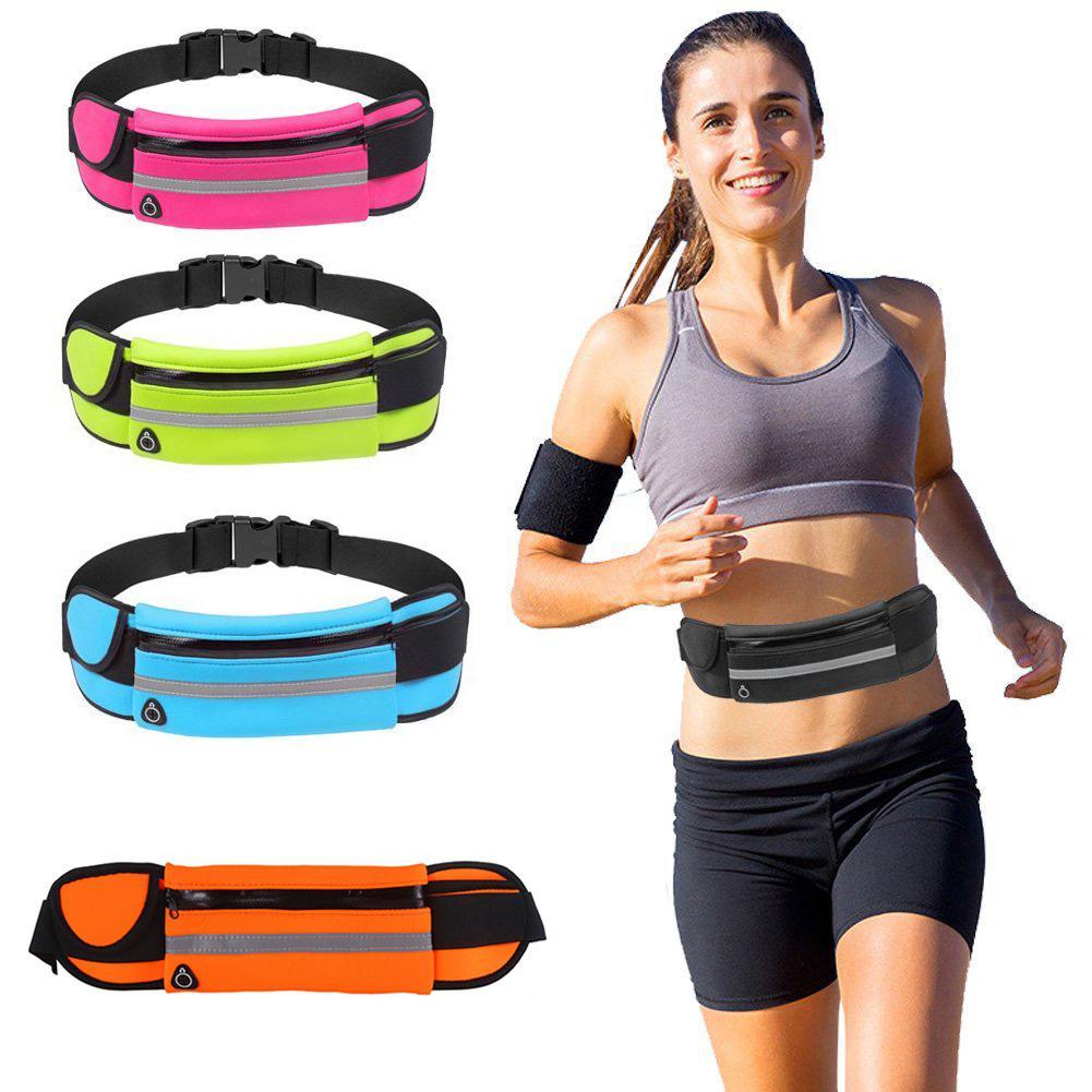 Running Waist Packs Men Women Unisex Bags Multifunction Sports Outdoor Activities Waterproof Anti-theft Zipper Bag