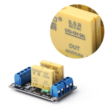 2 Channel SSR Solid State Relay High-low Trigger 5A 3-32V For Arduino R3 New