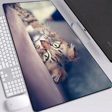 Симпатичные коврики для животных кошка коврик для мыши настольного компьютера пылезащитный обогрев печатные мыши Коврик пользовательские замок края анти-скольжения клавиатуры 900x400mm