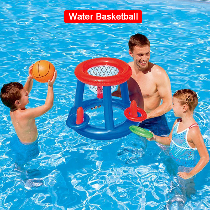 Summer Water Basketball Hoop Pool Float Inflatable Play Game Swimming Pool Toy Water Sport Toy Pool Floating Funny Toys