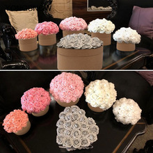 10/25pcs 8cm Big PE Foam Flowers Artificial Rose Flower Bridal Bouquet Wedding Christmas Party Decor DIY Scrapbooking Flowers