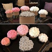 10/25pcs 8cm גדול PE קצף פרחים מלאכותי רוז פרח כלה זר חתונת חג המולד המפלגה דקור DIY רעיונות פרחים