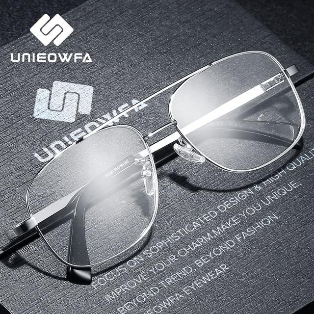 High Quality Prescription Frame Glasses for Men Transparent Clear Eyeglasses Frame Optical Myopia Spectacles Pilot Style 2019
