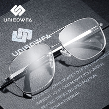 Hoge Kwaliteit Recept Frame Glazen Voor Mannen Transparant Clear Brillen Frame Optische Bijziendheid Bril Pilot Stijl 2019