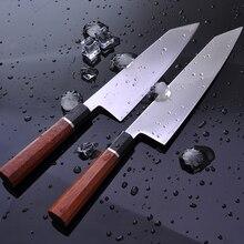 سكين مطبخ الشيف الياباني HAP40 ستيل لتصفية السمك المهنية كيريتسوكي الساشيمي السوشي جيوتو السكاكين مع مقبض المثمن 30 جرام