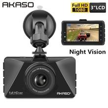 AKASO New 3 Inch Car Dvr Camera 1080P Car Video Recorder Loop Recording Dash Cam C200 Night Vision Car Camera DashCam G-Sensor цена