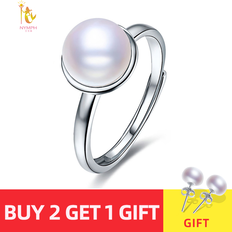NYMPH Pearl Ring For Women Pearl Jearly Real Freshwater Pearl Rings White Natural Pearl Ring Innrech Market.com