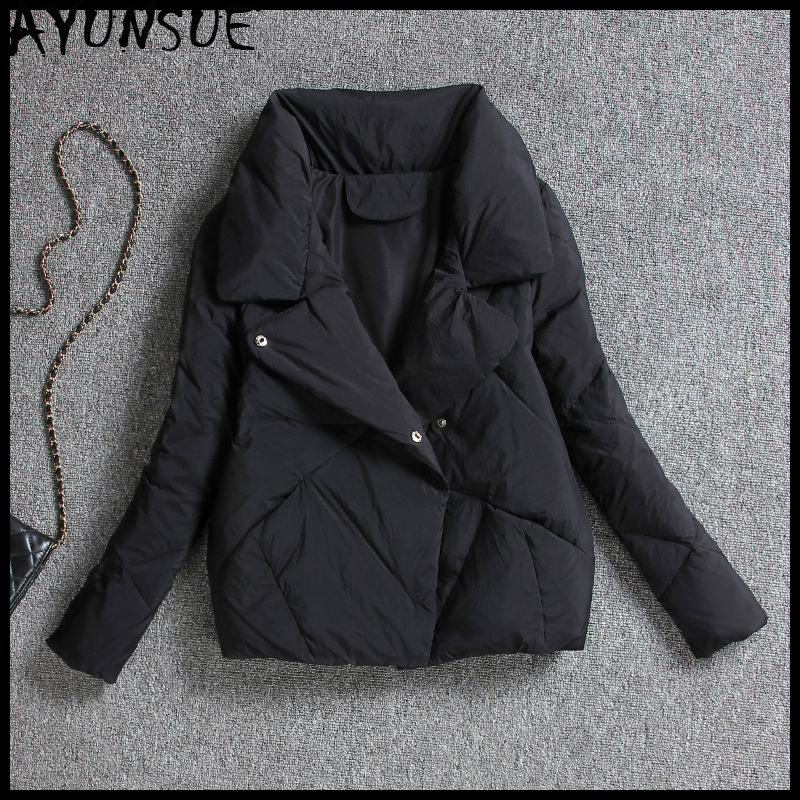 AYUNSUE Short Women's Down Jacket Korean Autumn Winter 90% White Duck Down Coat Female Puffer Jacket 2019 Chaqueta Mujer KJ3352