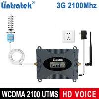 Lintratek LCD ekran sinyal tekrarlayıcı 3G 2100MHz güçlendirici cep telefonu amplifikatör UMTS 2100MHz Band 1 cep cep telefonu güçlendirici