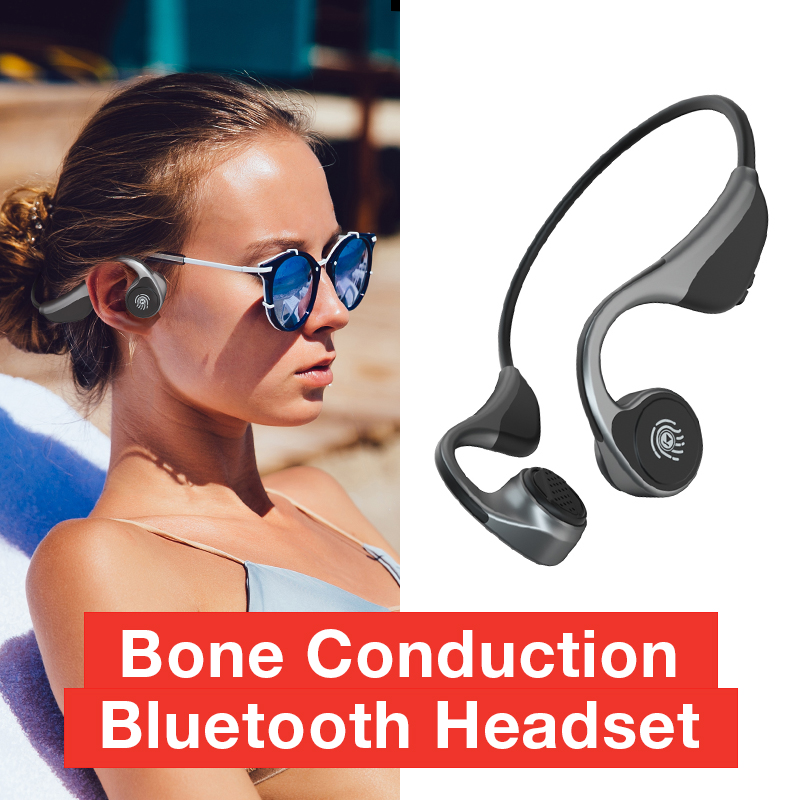 SANLEPUS Bone Conduction Earphones Open-Ear Wireless Headphones Bluetooth 5.0 Qualcomm Chip With Mic For Running Sports Fitness