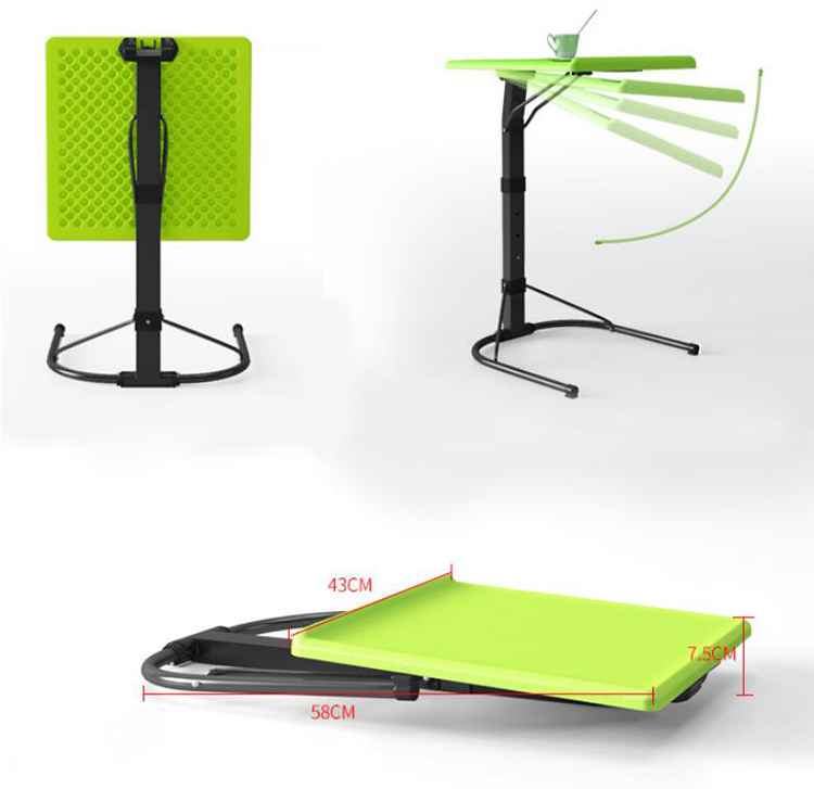 Купить с кэшбэком Folding Laptop Table Adjustable Lifting Laptop Desk Notebook Table for Bed Sofa Reading Outdoor Portable Study table