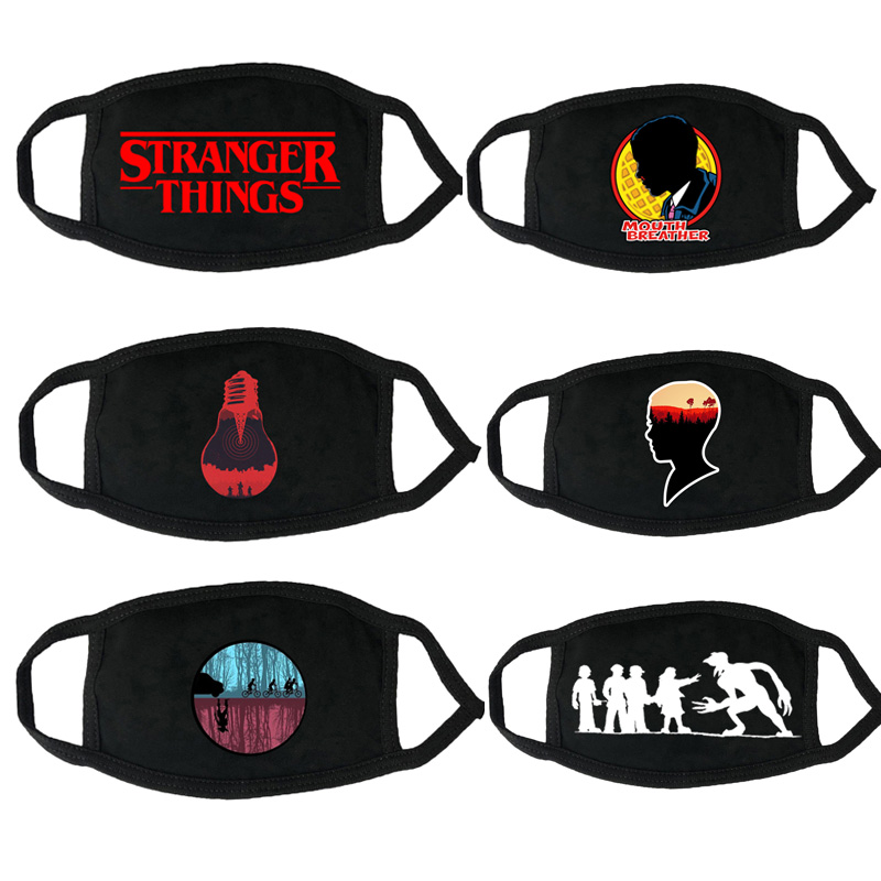 Stranger Things Print Reusable Children Mask Protective Mouth Mask Adult Anti Dust Face Mask Proof Kids Masks Toys