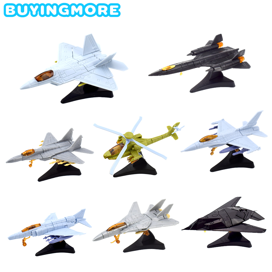 1 PCS Mini Assemble Fighter Model Kit Toys For Boys Aircraft Building Blocks Toy Military Assembly Models Toys Gifts For Kids