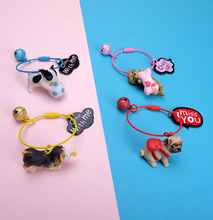 Lovely Resin Animal Pet Dogs Key Ring Schnauzer Welsh Corgi Keychains Gift For Woman Jewelry Key Chain For Dog Lover metal pet key chain welsh corgi dogs key ring bag charm wholesale lovely keychain car keyring gift women jewelry drop shipping
