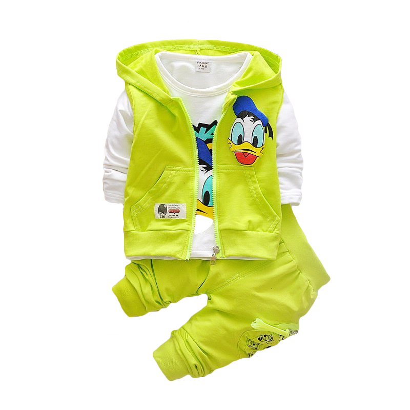 Boys Jacket Suits Clothing-Sets Outerwear Hoodie Baby Donald Duck Cartoon title=