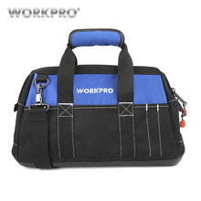WORKPRO 4 size tool kit bag waterproof Storage tool Bag Men's Multifunction Bag tool organizer electrician Shoulder Bag(China)