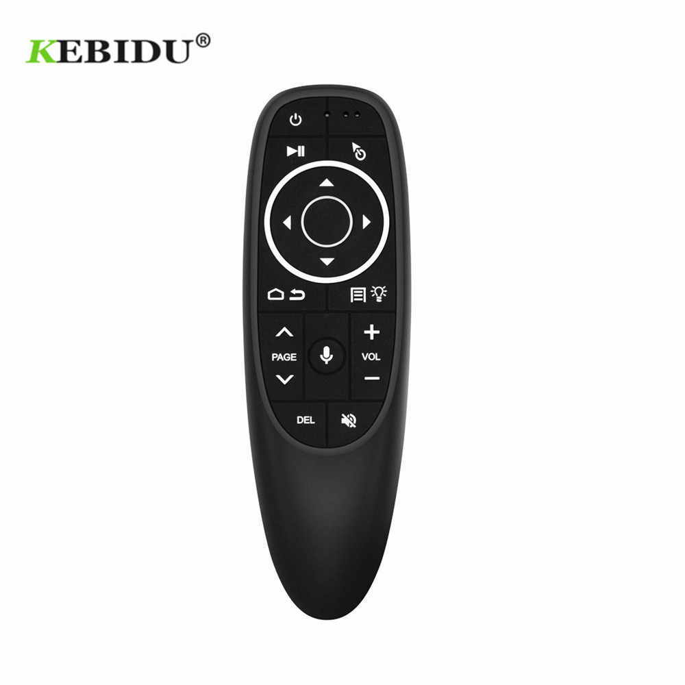 Kebidu G10S Pro Backlit Udara Mouse Suara Remote Control 2.4G USB Receiver Gyro Sensing Wireless Smart Remote untuk Android TV Box